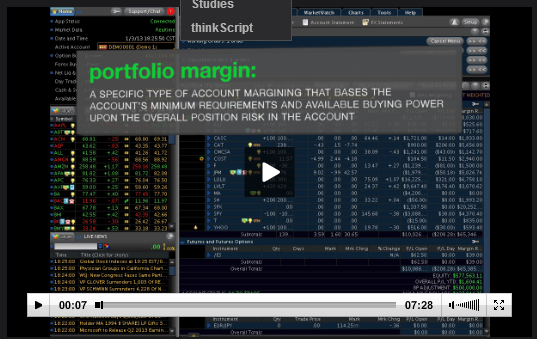TOS portfolio margin tutorial